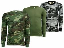 Original US Long Sleeve Tactical Military Army T-Shirt in Olive or Camouflage