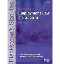 Blackstones Statutes on Employment Law 2013-2014 (Blackstones Statute Series), ,