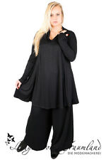 Cut Loose - Lagenlook TUNIKA SHIRT A-Linie Gr 42 44 46 48 50 52 - schwarz