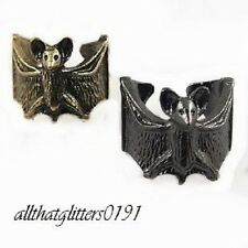 Gothic Style Bat Ring Adjustable Available In Gold Or Silver Colours.