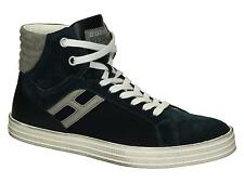 Sneakers alte Hogan Rebel da uomo in camoscio blu