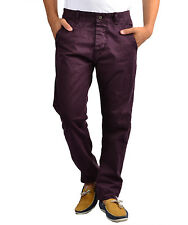 BRANDED EXPORT SURPLUS WINE COTTON TROUSER FOR MEN