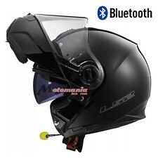 Casco de moto modular LS2 FF325 Strobe Negro mate BLUETOOTH-INTERCOM Integrado