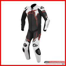 Alpinestars Tuta Moto Racing Gp Plus Bianco Rosso Pelle Intera superbike
