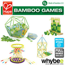 HAPE Bamboo Games Full Range of Wooden Activity Game Sets Children Age 3yrs+