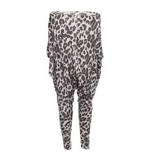 Women's Leopard Print Brown Slouch Harem Pant Trousers by Brave Soul