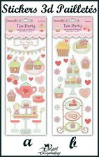 LOT STICKERS DECOUPAGE 3D AUTOCOLLANT PAILLETÉ CUPCAKES SCRAPBOOKING SCRAP