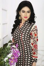 Shanaya Cotton Block Printed with Georgette Sleeves Kurti / Kurta