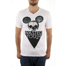 **CLEARANCE** HAPPY CLOTHING Fashion T-Shirt V-Neck Wasted Youth