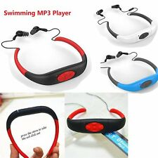 IPX8 Waterproof Sports MP3 Player Neckband FM Radio Swimming Headphones 4GB/8GB