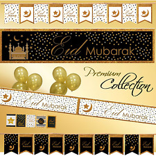 *Premium* EID DECORATIONS Banner Party Flags Buntings Cards Wrapping Paper Gift
