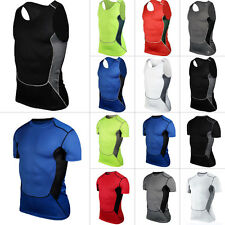 Men's Sports Body Compression Wear Thermal Base Layer Tights Top T-Shirt Vest
