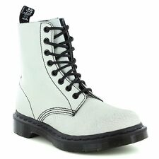 Dr Martens Pascal Womens Leather 8-Eyelet Ankle Boots - White & Black