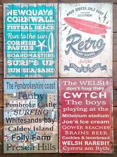 Vintage Retro Sign Poster Picture Wall Plaque Shabby Chic Wales Cornwall