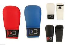 KnockOut Karate PU Elite Sparring Mitts Thumbless Blue Red Black White
