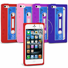 CASSETTE RETRO TAPE SILICONE CASE GEL CASE COVER FOR  IPHONE 5 5G
