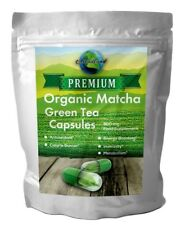 Matcha Green Tea powder Vegicaps, 90 Capsules 500mg ORGANIC USDA & EU Certified.