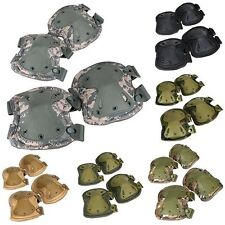 Military Army Knee Elbow Pads Tactical Airsoft Paintball Skate Work Equipment