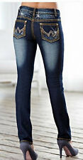 Skinny Damenjeans Gr 34 36 38 40 42 44 46 dark blue denim Stretchjeans Jeans NEU
