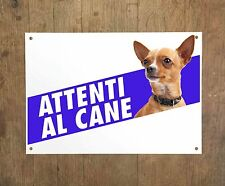 CHIHUAHUA 2 Attenti al cane Targa cartello metallo Beware of dog metal sign
