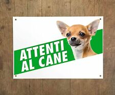 CHIHUAHUA 3 Attenti al cane Targa cartello metallo Beware of dog metal sign