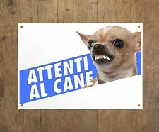 CHIHUAHUA 4 Attenti al cane Targa cartello metallo Beware of dog metal sign