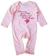 "Dirty Fingers DIVERTENTE DA BAMBINO TUTINA VESTITO REGALO "" MAMMA Loves Me Daddy"