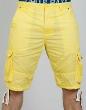 CIPO & BAXX COTTON SHORTS - CK110 YELLOW SHORTS
