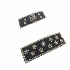 Crystal Snap Clip Rectangle Barrette Hair Clip Sparkly Diamante and Bead Effect