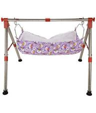 Stainless Steel Indian Style NRI Folding Baby Cradle Round Pipe Ghodiyu