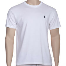 POLO RALPH LAUREN Mens T-Shirt Classic Crew Neck Cotton Top White All Sizes BNWT