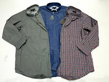 Mens Big Size Casual Smart Long Short Sleeved Cotton Shirts Clothing Size Huge