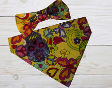 Day Of Dead Dog Bandanas - Dog Bowties - Dog Bandanas – Candy Skull Bandanas