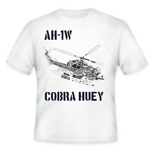 AH-1W COBRA WAR HUEY - NEW AMAZING GRAPHIC QUOTE T-SHIRT - S-M-L-XL-XXL