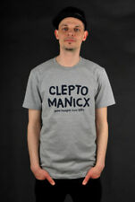 CLEPTOMANICX NEWS HEATHER GRAY T-SHIRT