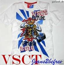 T-Shirt *Future Samurai Tee Man* Shirt weiß mit metallic Print *Neu by VSCT