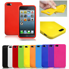 SOFT SILICONE GEL RUBBER CASE COVER SKIN FOR APPLE IPHONE 5 5S & IPHONE 4 4S