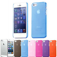 Ultra Thin Crystal Clear Transparent Case Cover for iPhone 5 & 5S & Screen Guard