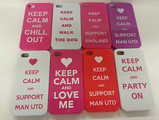 New Keep Calm And Support Man Utd Hard Back Case Cover For Apple iPhone 4 & 4S
