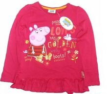 PEPPA PIG:SUPERB PLUM LONG SLEEVE TOP,2/3,3/4,5/6YR,NEW WITH TAGS