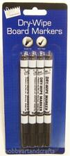 4 X Dry Wipe White Board Marker Pens Non - Toxic Bullet Tip For School, Office