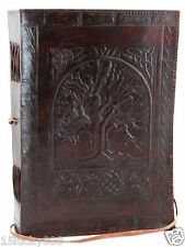 Vintage Large Tree of Life Leather Blank Book Diary Journal 200 Pages 7