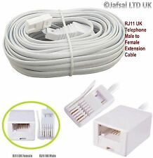 RJ11 UK Male To UK Female BT Extention Cable Lead For Fax Modem Telephone PC UK