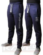 Mens Fly 53 Fleece Fitted Tracksuit Bottoms Joggers Sweat Pants TEMPLE ELLIOT