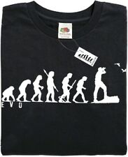 BIRD WATCHER TWITCHER - Mans Evolution T-Shirt® (ape) - Black - Great present.