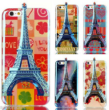 New Arrival 3D Eiffel Tower TPU back case cover for Apple iPhone 5 5s 5g SE