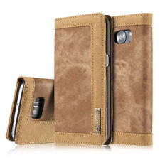Premium stylish Jeans PU Leather Wallet Flip Case Cover for Samsung Galaxy S7
