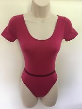ADAGIO AMY LEOTARD COTTON-LYCRA SHORT SLEEVE + BELT DANCE WEAR BNWT AGE 2 -ADULT