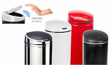 Round White Black Red Silver Sensor Kitchen Waste Dust Bin Automatic 30L 40L 50L