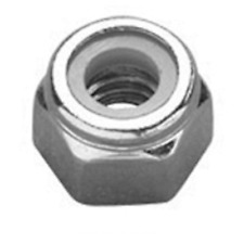 "M4 / 4mm NYLOC TYPE ""WHITE"" NYLON INSERT LOCK NUTS DIN 985 A2 STAINLESS STEEL"